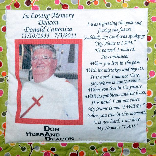 Canonica, Deacon Donald