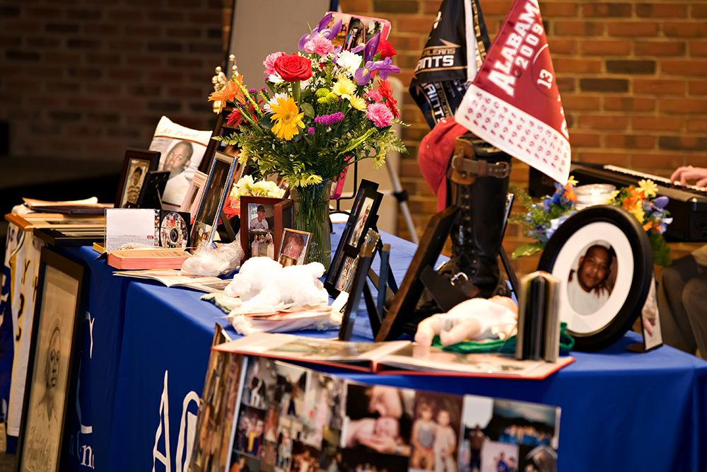 Items at a Donor Memorial Service
